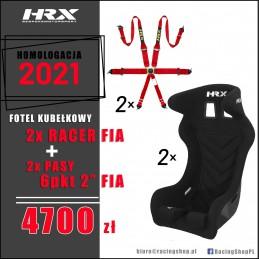 Fotel kubełkowy 2x HRX...